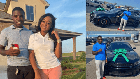 Lady buys her husband an expensive car (photos/video)