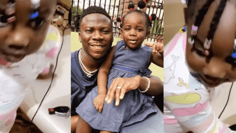 Stonebwoy's Daughter Adorably Sings Her Father's Latest Jam, Putuu (+video)