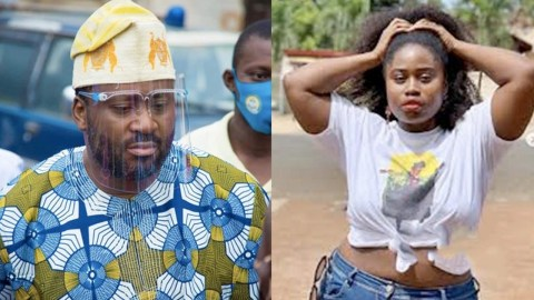 Desmond Elliot Allegedly Chopping Lydia Forson, His Wife Catches Them Red Handed