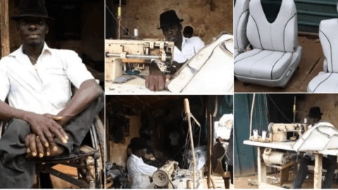 Meet The Physically-challenged Man Who Makes Beautiful Furniture In Nigeria (Photos)