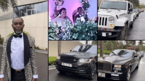 Ghanaian Millionaire, Kwasi Dadzie a.ka 'VAL' Challenges #Kency2020 #Ciri2020 as His Shows of His Fleet of Cars on his Wedding Day