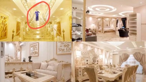 """""""Vanity Upon Vanity"""" Meet The Lady Who Owns a Mansion Built With Gold Because She Loves Anything Gold"""