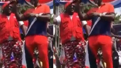 Kennedy Agyapong Shows His Dance Moves At NPP Rally In Kumasi (Video)