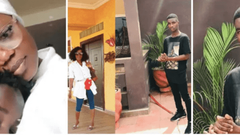 Video: Mzbel in tears as her adopted son is taken away from her after spending millions to raise and nurture him
