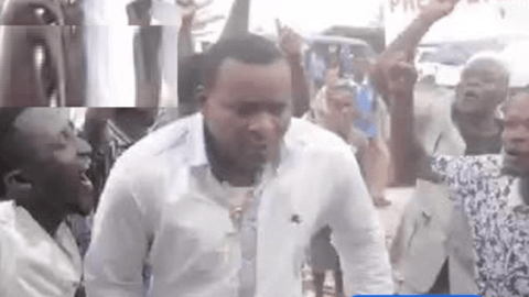 Watch video of Chairman Wontumi making himself 'dirty' in Kumasi following EC's declaration