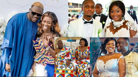 Kyeiwaa, Fella-Medikal, Joe Mettle And Other 12 Celebs Marriages Of 2020 That Caused Massive Stirs On The Internet | Photos
