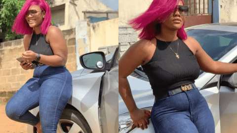 Lilwin's Lavish Girlfriend Sandra Sarfo Grows Huge Shapes Of Pamela As She Slays In New Pictures