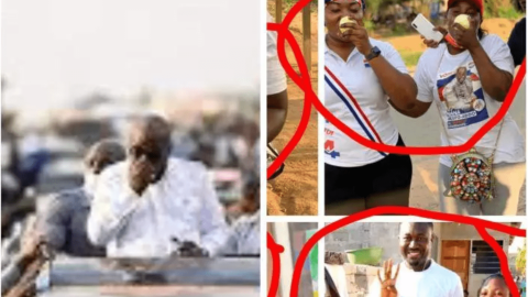 Ghanaians Join Nana Addo's Orange Eating Trend- More Photos