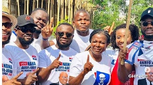 Kalybos, Prince David Osei And Other Celebrities Storm Ayawaso West To Campaign Against Dumelo(video)