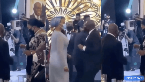 Video: President Akufo Addo, Bawumia and Wife Show off Their Boogeying Skills At Dinner