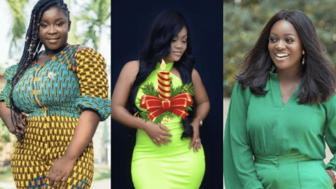 Top 6 Photos of Maame Serwaa, Sandra Ababio & Jackie Appiah slaying effortlessly in green dress.