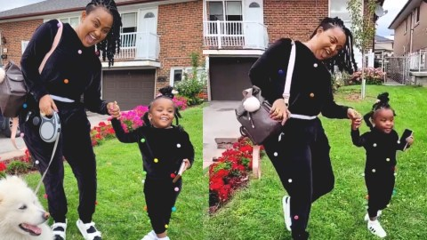 McBrown shows signs of improved condition as she twins with Baby Maxin in Canada (Video)