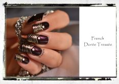 NAIL ART FRENCH DOREE TRESSEE 3