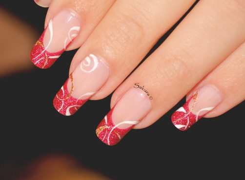 NAIL ART FRENCH CERCLES NUDE 4