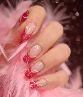 NAIL ART FRENCH CERCLES NUDE 7