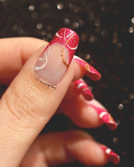 NAIL ART FRENCH CERCLES NUDE