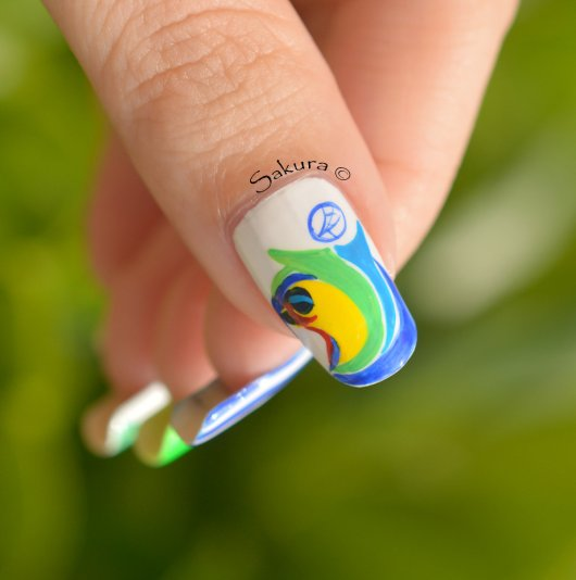 NAIL ART COUPE DU MONDE FOOTBALL 10