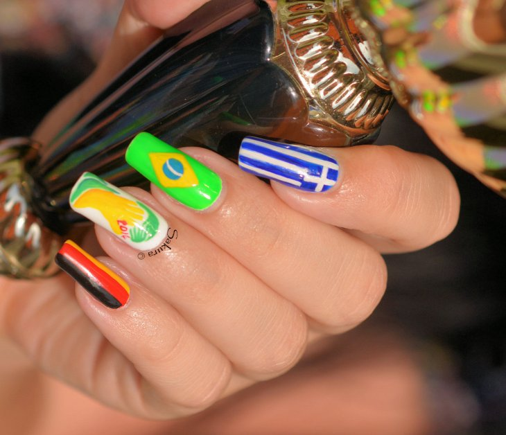 NAIL ART COUPE DU MONDE FOOTBALL 9