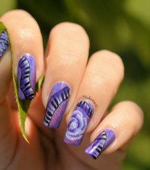 NAIL ART ONE STROKE MUSIQUE 9