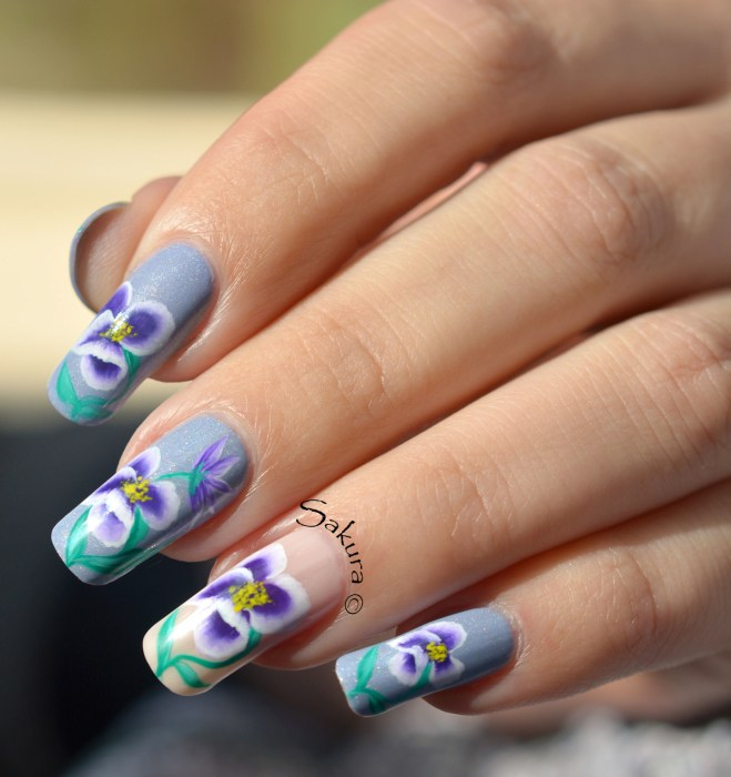 NAIL ART ONE STROKE PENSEES 6