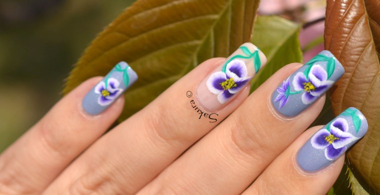 NAIL ART ONE STROKE PENSEES 9