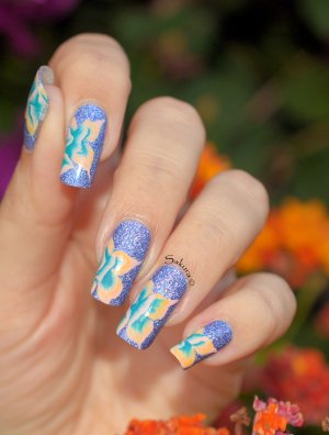 NAIL ART ONE STROKE ABSTRAIT 2