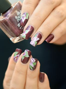 Nail Art One Stroke Fleuri