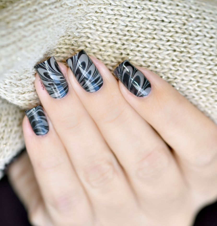 NAIL ART WATERMARBLE CAFE 9