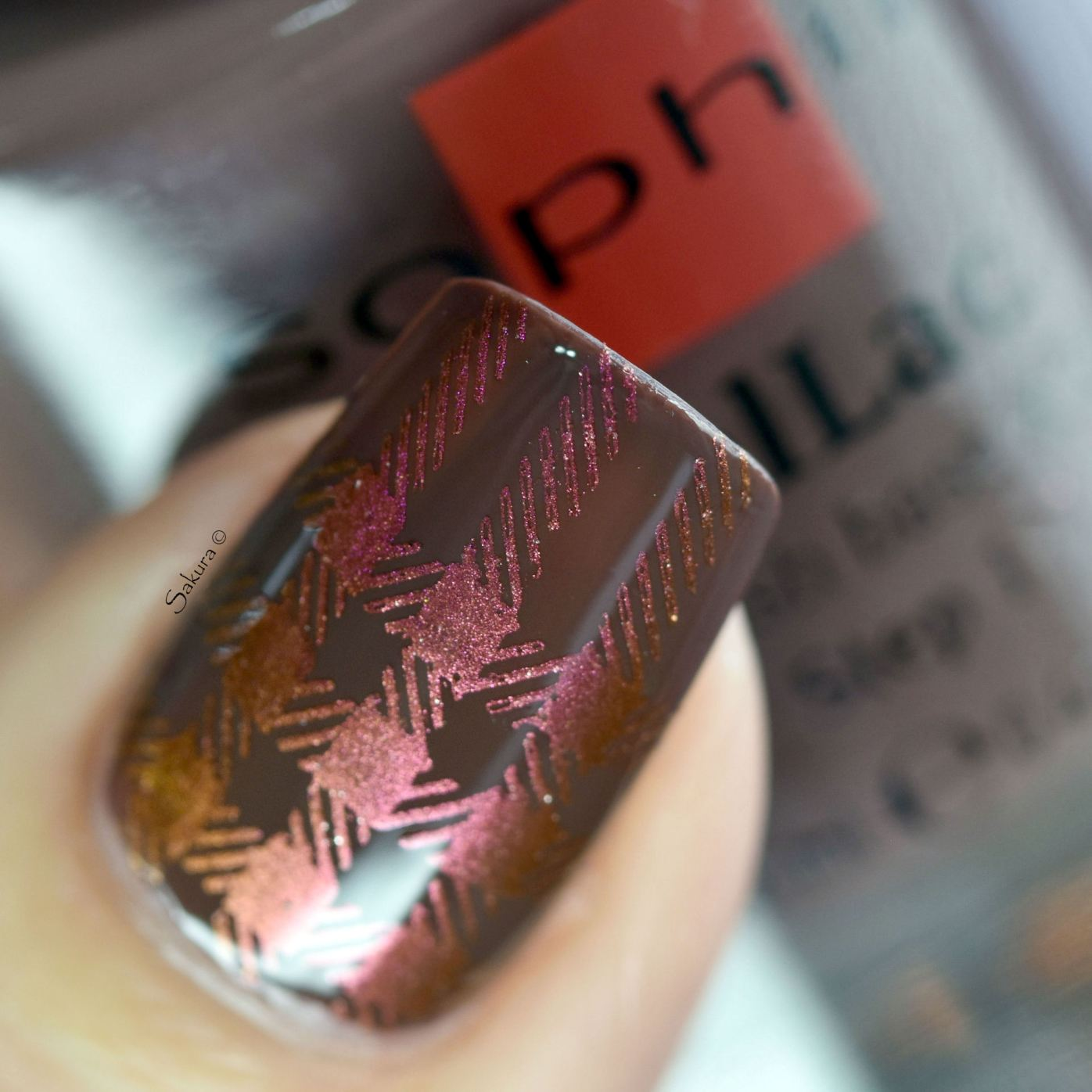 NAIL ART PLAID MULTICHROME 3