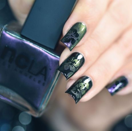 NAIL ART HIBISCUS CAMOUFLAGE 6
