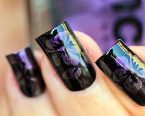 NAIL ART HIBISCUS CAMOUFLAGE 8