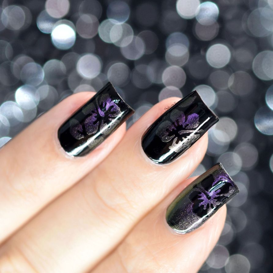 NAIL ART HIBISCUS CAMOUFLAGE