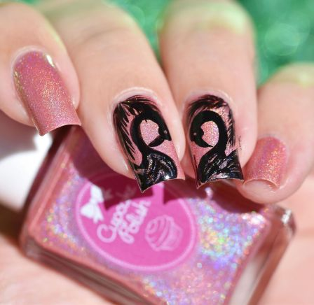 NAIL ART FLAMINGO 5