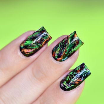 NAIL ART GRAFFITIS FLUOS 11