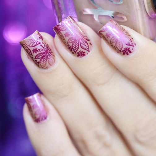 NAIL ART AUTOMNE ROSE 4