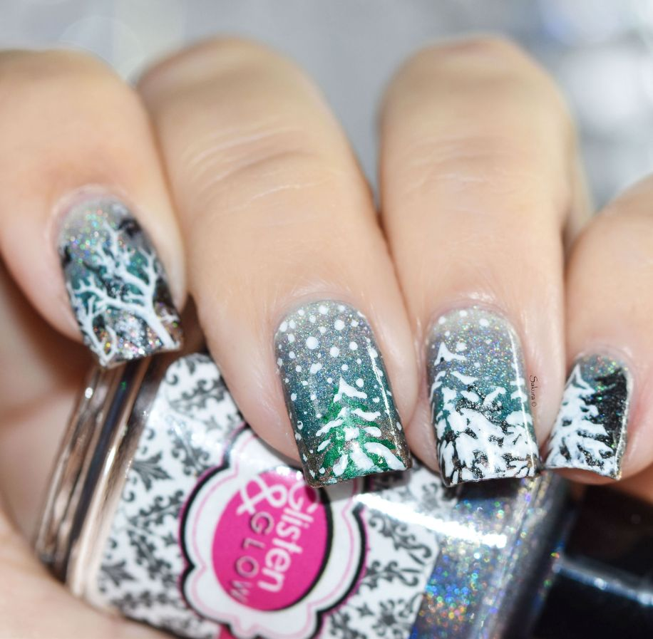 NAIL ART ITS RAINING SNOW 7