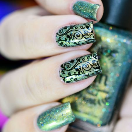 NAIL ART STAINED GLASS 5