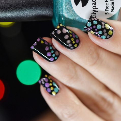 NAIL ART HOLO BUBBLES 9