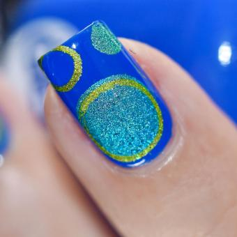 NAIL ART BUBBLES BLUES 7