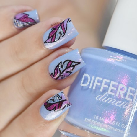 NAIL ART FEATHER 6