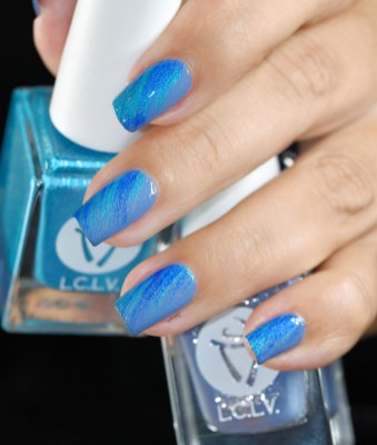 NAIL ART DRY BRUSH LCVL BLUE