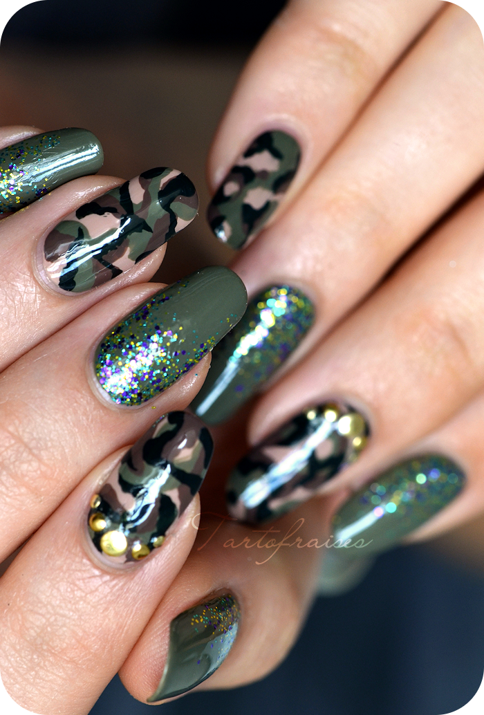 deco ongles militaire