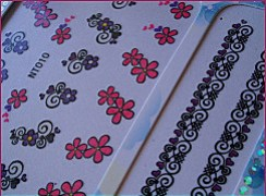water decal violet 006