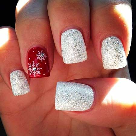 Christmas Nail Designs Red And White Nail Art Designs 2020