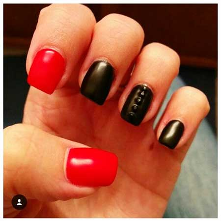 11 Simple Red Nail Designs 2017 2017041355