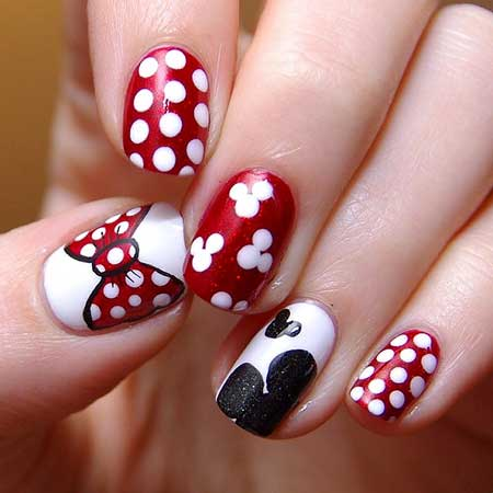 12 Simple Red And Black Nail Designs 2017 Nail Art Designs 2020