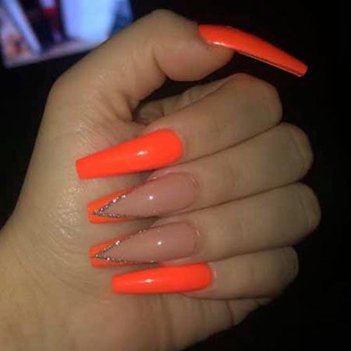 Acrylic Orange Nails Archives Nail Art Designs 2020