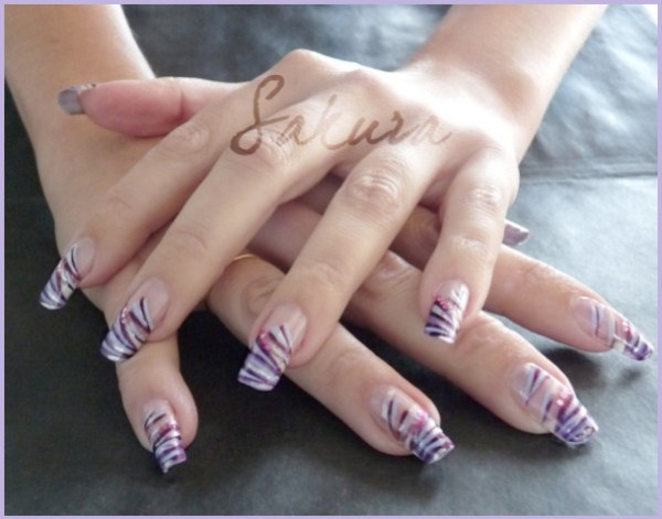 NAIL ART PURPLE 5