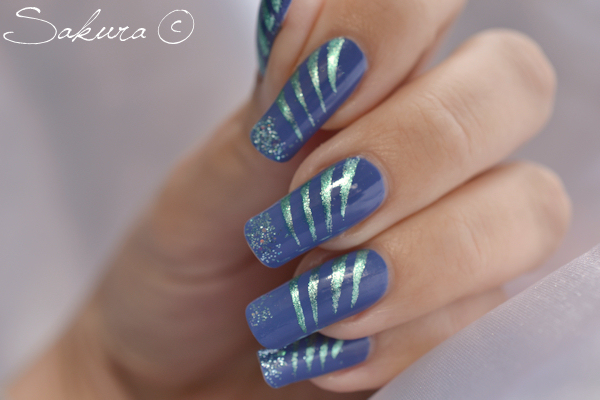Nail Art facile Bleu 5
