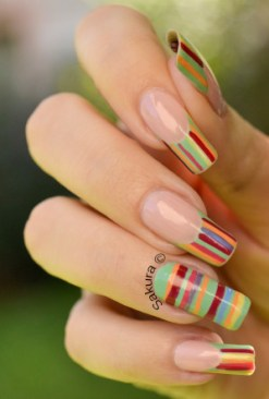 NAIL ART FRENCH LINEAIRE 6